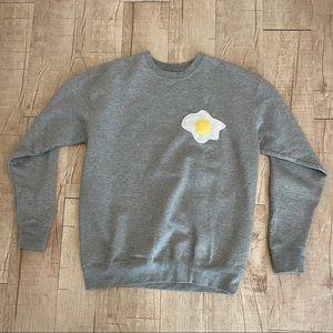 Gray sweatshirt with egg medium cotton heritage